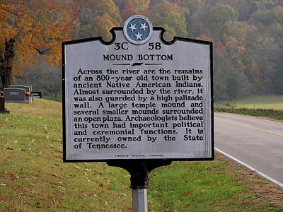 Montgomery Bell State Park Photograph - Mound Bottom Marker - 1 by Randy Muir