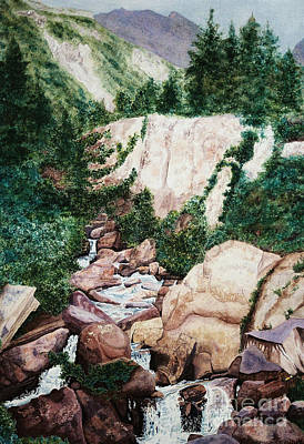 Painting - Mounrain Creek Falls by Vikki Wicks