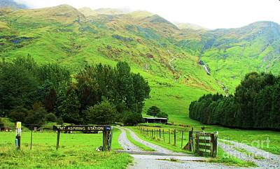 Photograph - Mount Aspiring Field Station by Michele Penner