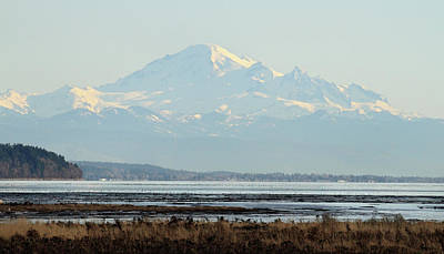 Mount Baker From Boundary Bay Art Print by Pierre Leclerc Photography