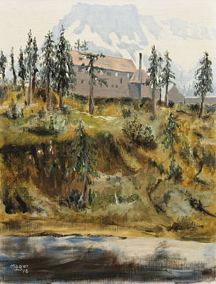 Painting - Mount Baker Lodge by Alan Mager