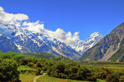 Photograph - Mount Cook Trailhead by Harry Strharsky