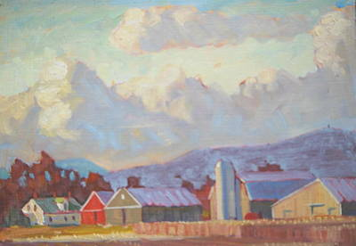 Painting - Mount Greylock And The Jayko Farm by Len Stomski
