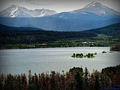 Mount Guyot And Bald Mountain Over Dillon Reservoir Art Print