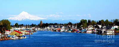 Oregon Photograph - Mount Hood And Willamette River by Tanya  Searcy