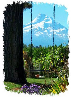 Photograph - Mount Hood Scene by Cindy Wright