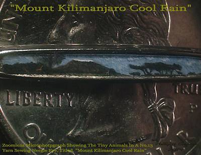 Nanomicroinfinity Art Painting - Mount Kilimanjaro Cool Rain  by Phillip H George