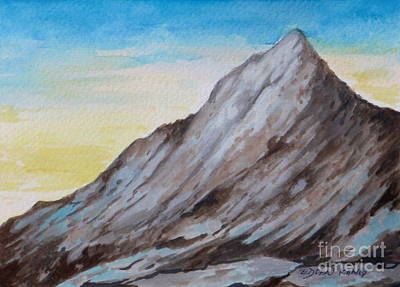 Painting - Mount Kinabalu South Peak by Edoen Kang