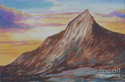 Painting - Mount Kinabalu South Peak I by Edoen Kang
