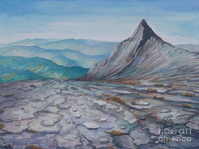 Painting - Mount Kinabalu South Peak Iv by Edoen Kang