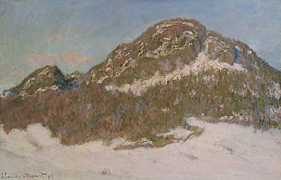 Mount Kolsaas In Sunlight Art Print by Claude Monet