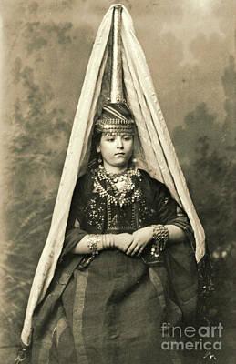 Bridal Jewelry Photograph - Mount Lebanon Druse Bride 1910 by Padre Art