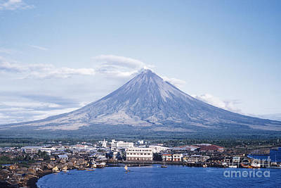 Mayon Photograph - Mount Mayon Behind Legaspi, Philippines by Edward Drews