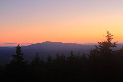 Mount Monadnock Photograph - Mount Monadnock From Pack Monadnock At Dusk by John Burk