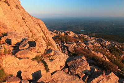 Mount Monadnock Photograph - Mount Monadnock Summit Evening Light by John Burk