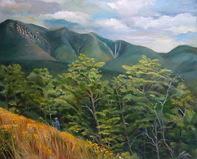 Painting - Mount Osceola From Kancamagus Highway New Hampshire by Nancy Griswold