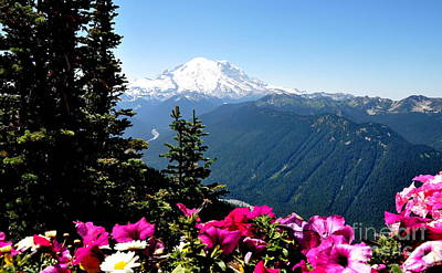 Mount Rainier Seen From Crystal Mountain Summit  5 Art Print by Tanya  Searcy