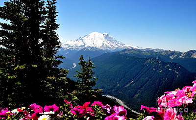 Mount Rainier Seen From Crystal Mountain Summit  6 Art Print by Tanya  Searcy