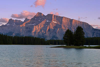 Photograph - Mount Rundle by Bernard Chen
