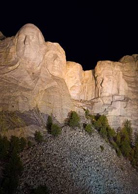 Mount Rushmore Photograph - Mount Rushmore At Night by Twenty Two North Photography