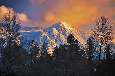 Mount Si Winter Wonder Art Print by Scott Massey