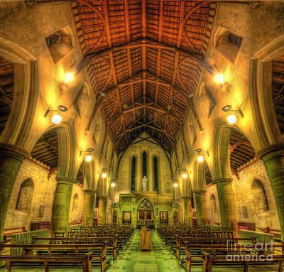Mount St Bernard Abbey - The Nave Art Print by Yhun Suarez