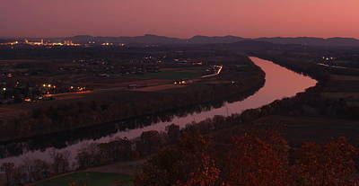 University Of Connecticut Photograph - Mount Sugarloaf Twilight Autumn Panorama by John Burk