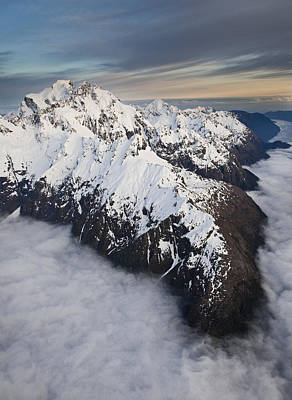 Mount Tutoko At Dawn In Fiordland Np Print by Colin Monteath