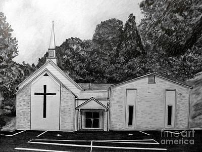 Mount Union Church Of The Brethren Art Print by Julie Brugh Riffey