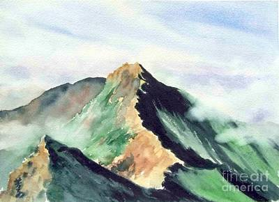 Art Print featuring the painting Mountain  1 by Yoshiko Mishina