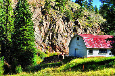Barns Photograph - Mountain Barn by Emily Stauring
