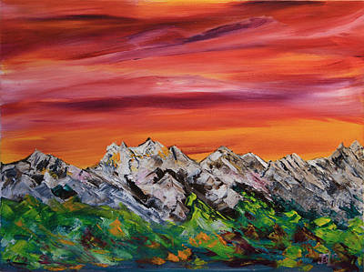 Painting - Mountain Bliss by James Bryron Love