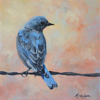 Painting - Mountain Bluebird by Debra Mickelson