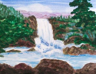 Painting - Mountain Falls by Jeanette Stewart