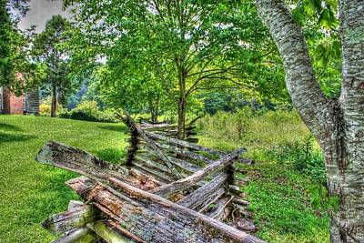 Woods Photograph - Mountain Fence by Barry Jones