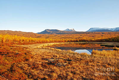 Mountain In Autumn Art Print by Conny Sjostrom