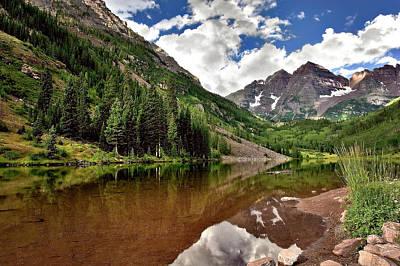 Photograph - Mountain Lake by Endre Balogh