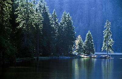Mountain Lake In Arbersee, Germany Art Print by John Doornkamp