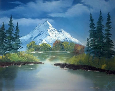 Oil Painting - Mountain Lake by Keith Sachs