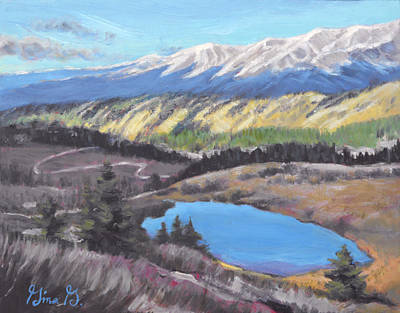 Wall Art - Painting - Mountain Lake Seclusion by Gina Grundemann