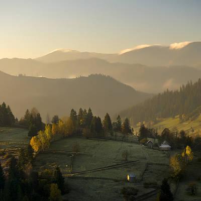 Mountain Landscape Art Print by Ovidiu Bastea