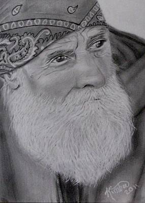 Drawing - Mountain Man  by Kimber  Butler