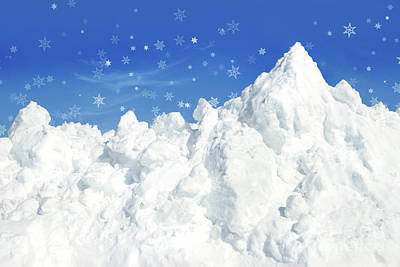 Christmas Holiday Scenery Photograph - Mountain Of Snow by Sandra Cunningham