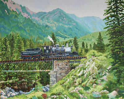Mountain Railroad Art Print