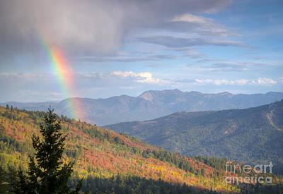 Photograph - Mountain Rainbow by Idaho Scenic Images Linda Lantzy