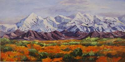 Revolutionary War Art - Mountain Range by Ingrid Dohm