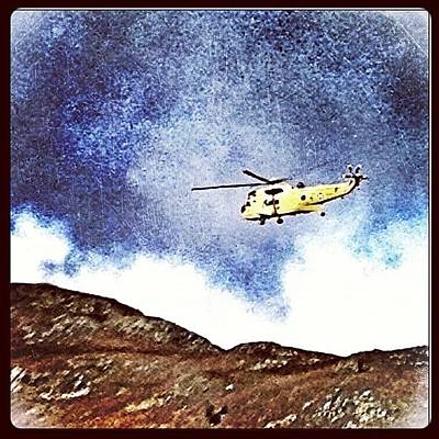 Helicopter Photograph - Mountain Rescue! Not For Us Fortunately by Polly Rhodes