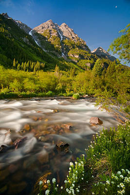 Photograph - Mountain River Morning by Ryan Heffron