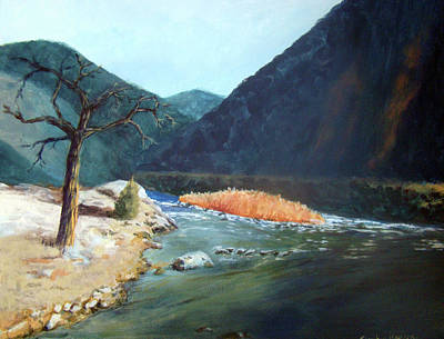 Mountain River Art Print by Stephen  Hanson