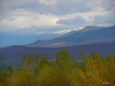 Photograph - Mountain Shades In New Hampshire by Nancy Griswold
